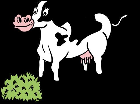 牛の食事イラスト